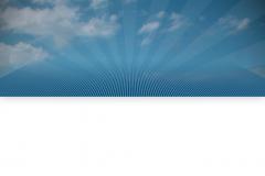 Sky Canopy with Blue Stage & Sunburst